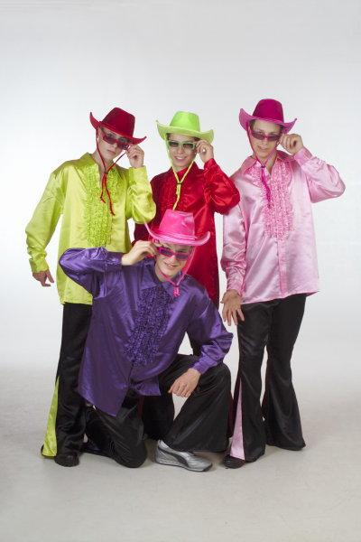 Ruches blouse fluor groen heren (56)